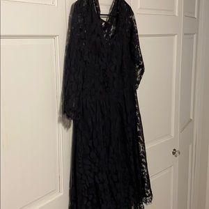Size 14 Torrid black lace dress.
